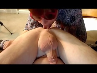 Mature rimjob and finger hubby asshole