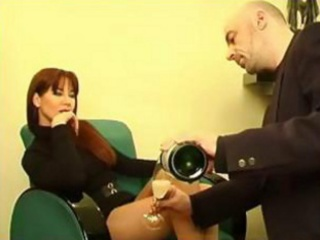 perfect red-haired milf in hawt suit receives