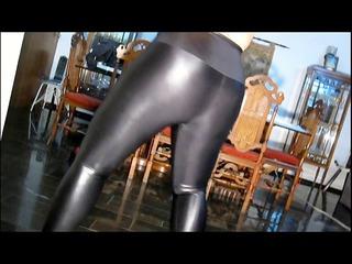 bulky in shiny leggings &; hose
