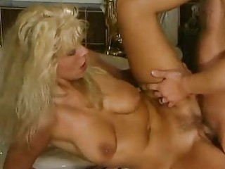 aged german blonde fucked in the bathroom